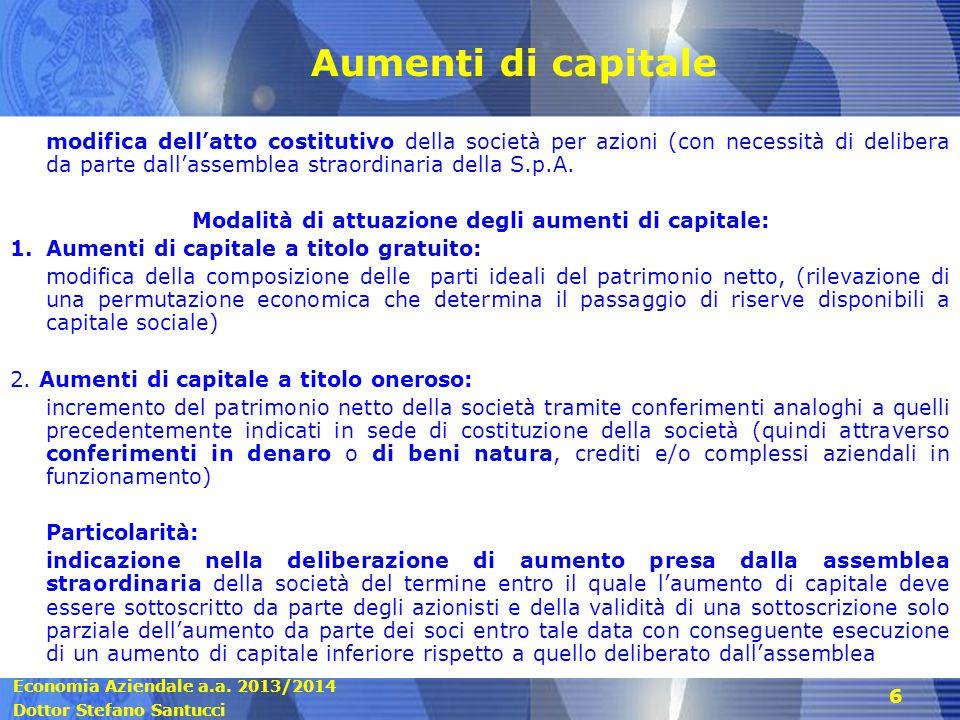 Economia Aziendale a.a.