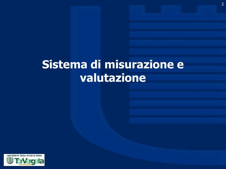 Sistema di misurazione e valutazione 2
