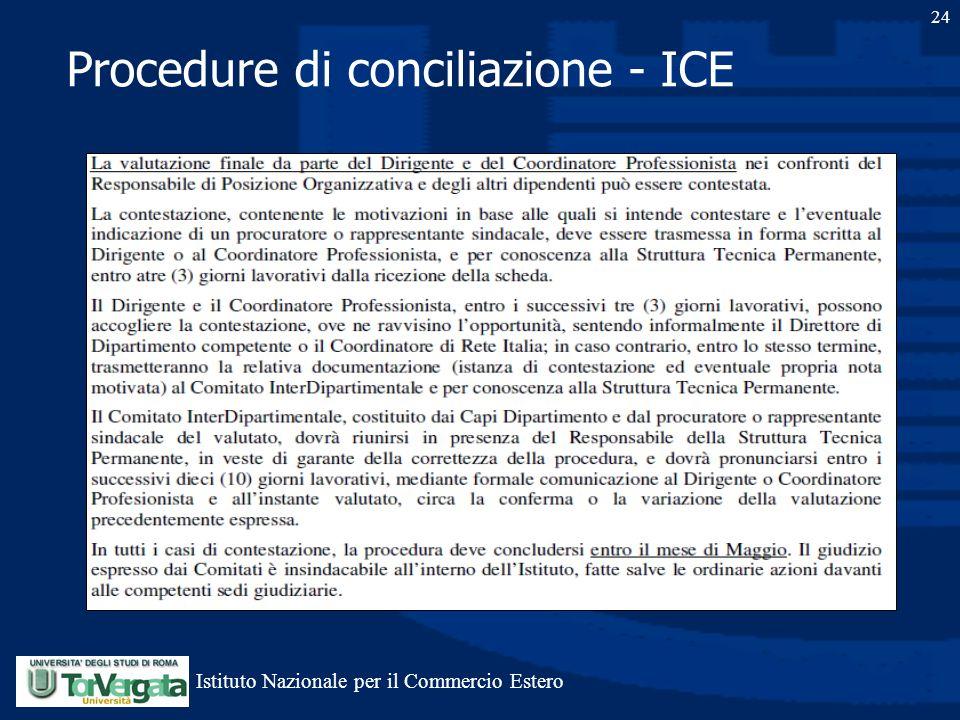 Procedure di conciliazione - ICE 24 Istituto Nazionale per il Commercio Estero