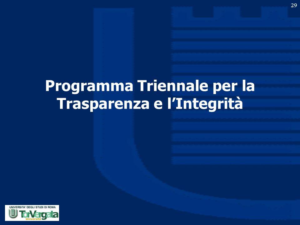 Programma Triennale per la Trasparenza e l'Integrità 29