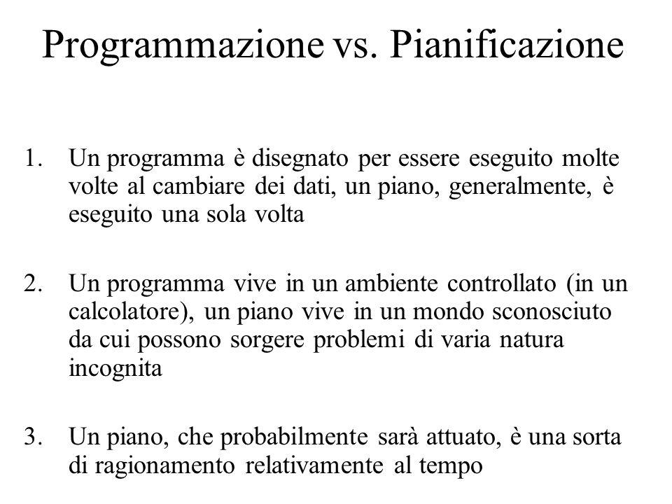 Programmazione vs.