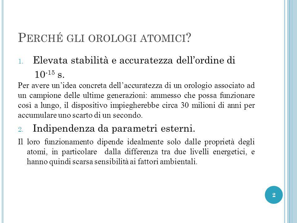 C RONOLOGIA DELL ' OROLOGIO ATOMICO 1949 – H.