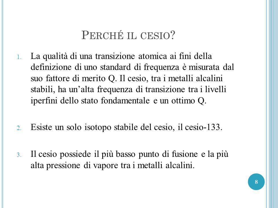 P ERCHÉ IL CESIO .1.