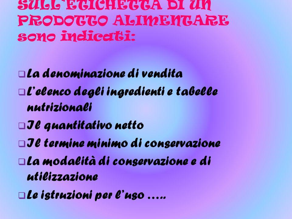 INOLTRE SULL'ETICHETTE DEVE COMPARIRE: Il nome o la regione sociale, il marchio depositato, la sede del fabbricante o del confezionatore la sede dello stabilimento di fabbricazione o confezionamento, per i prodotti fabbricati o confezionati in Italia.