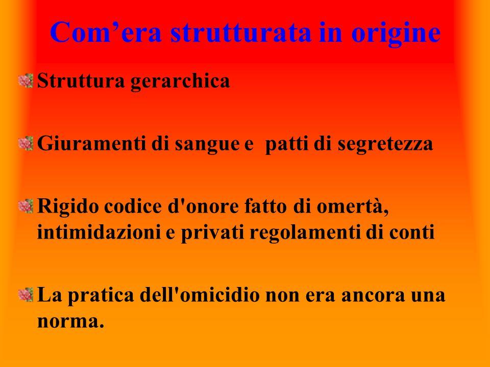 Le origini Nasce e si afferma nella seconda metà dell Ottocento in Calabria, una regione economicamente povera, priva di industria e con pochi imprenditori.