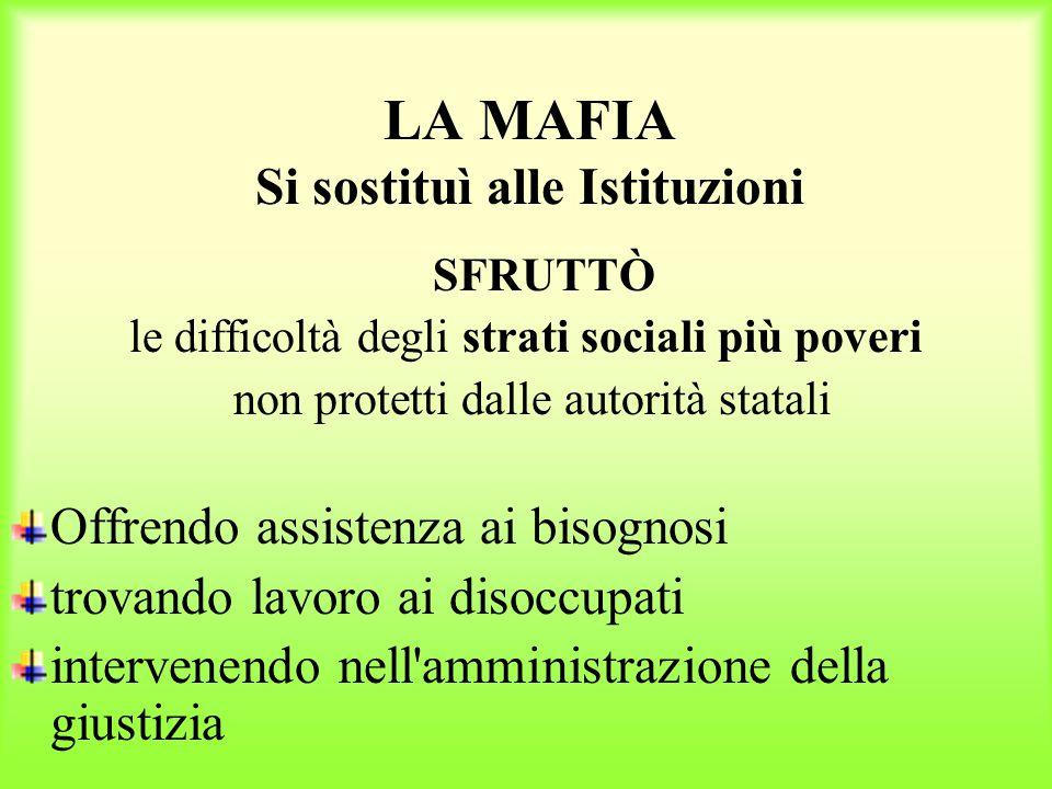 Mafia e politica Dal 1943 avevano cominciato a fare rientro in Sicilia i mafiosi italo-americani.