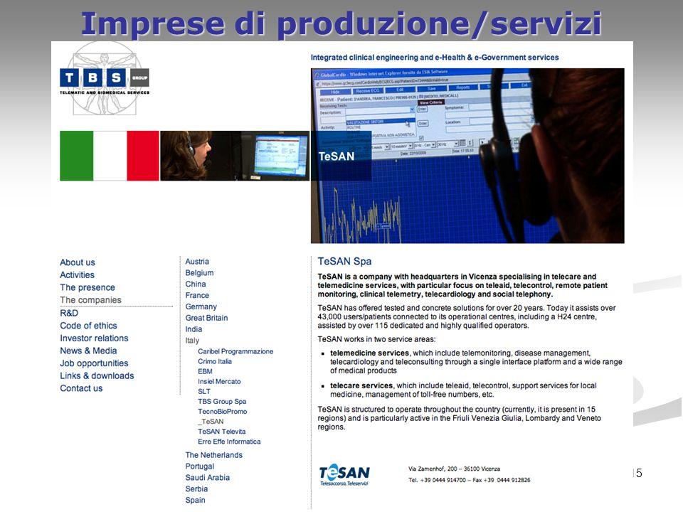 15 Imprese di produzione/servizi nel Veneto