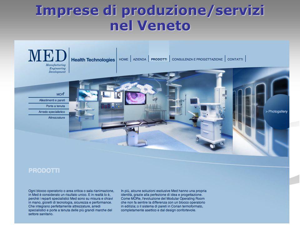 17 Imprese di produzione/servizi nel Veneto