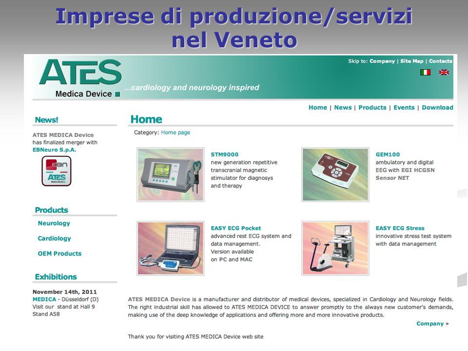 23 Imprese di produzione/servizi nel Veneto