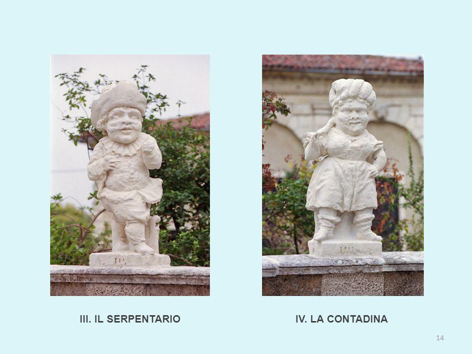 III. IL SERPENTARIO 14 IV. LA CONTADINA