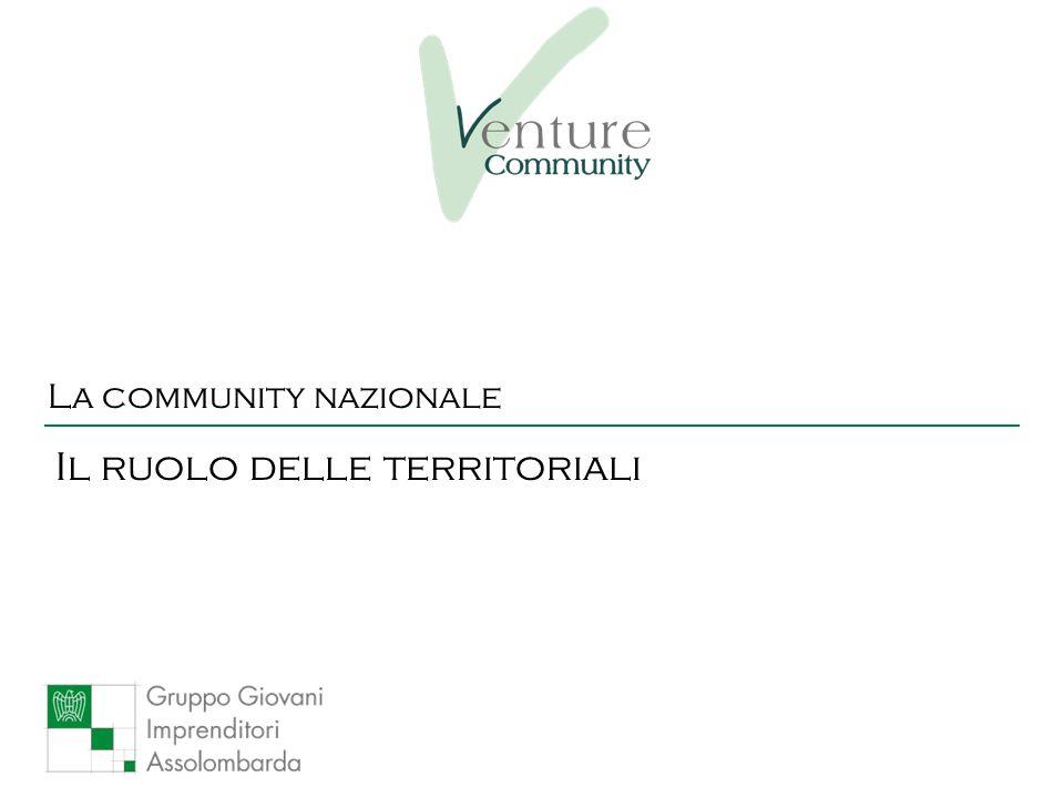 La community nazionale Il ruolo delle territoriali