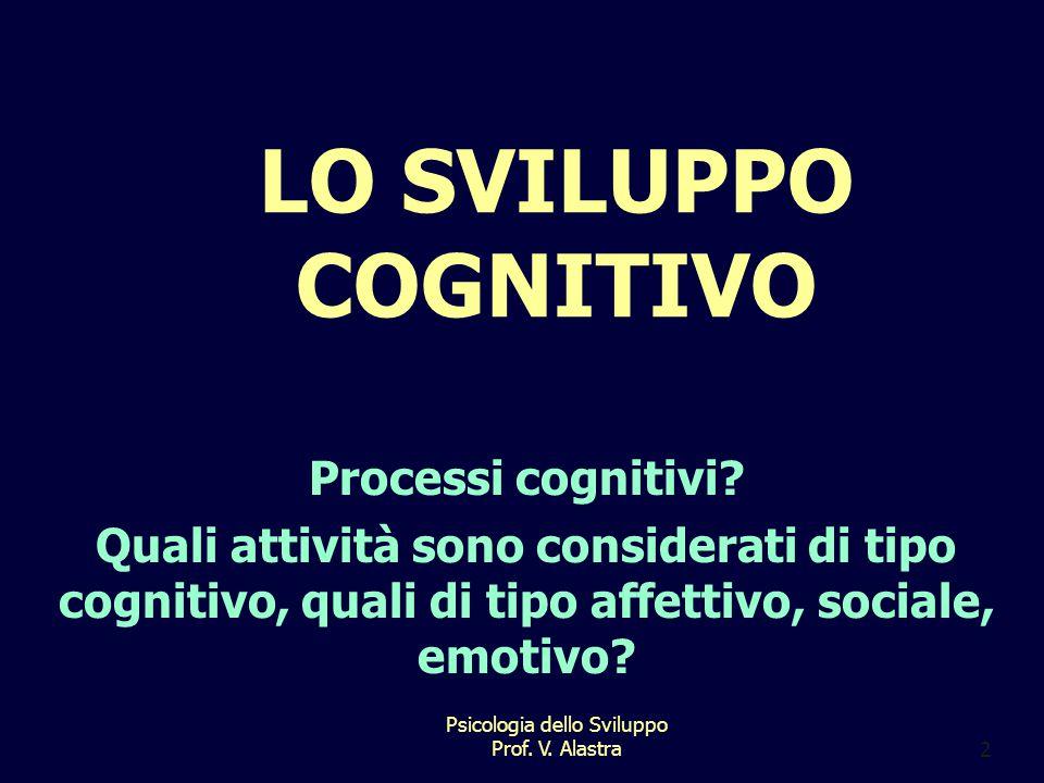 Psicologia dello Sviluppo Prof.V. Alastra2 LO SVILUPPO COGNITIVO Processi cognitivi.