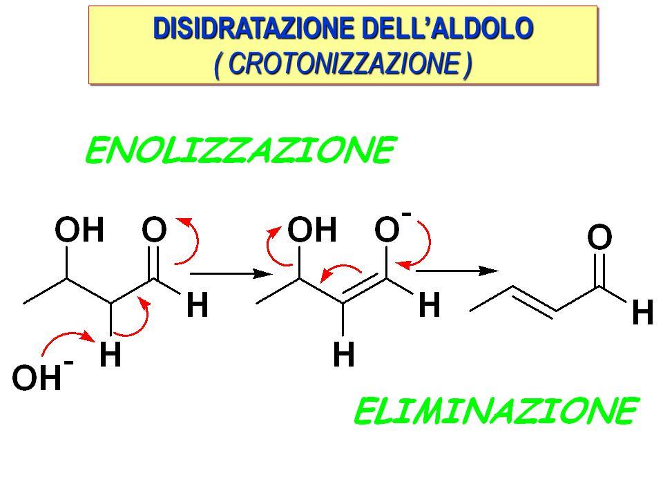 DISIDRATAZIONE DELL'ALDOLO ( CROTONIZZAZIONE ) DISIDRATAZIONE DELL'ALDOLO ( CROTONIZZAZIONE )
