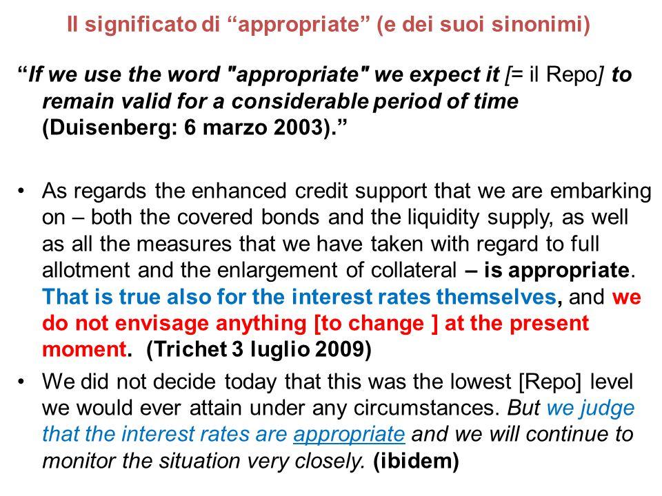 """Il significato di """"appropriate"""" (e dei suoi sinonimi) """"If we use the word"""