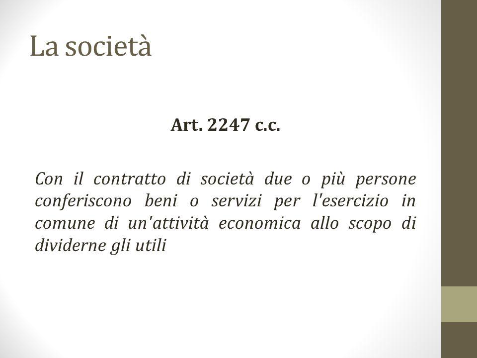 La società Art.2247 c.c.