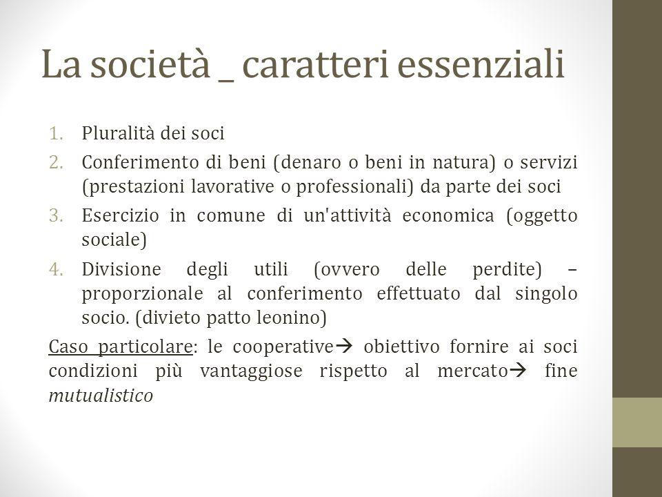 Società di persone e società di capitali a)Autonomia patrimoniale: Società di persone Società di capitali Imperfetta Perfetta