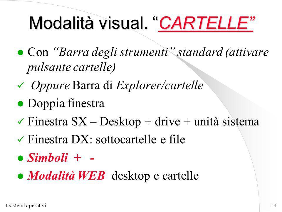 I sistemi operativi18 Modalità visual.
