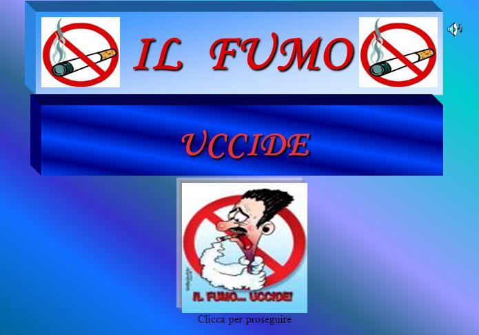 DATI STATISTICI Il Fumo in Italia In Italia i fumatori censiti nel 2004 sono circa 13.000.000 Nel 1993 erano 16.000.000 Trend negativo Clicca per proseguire