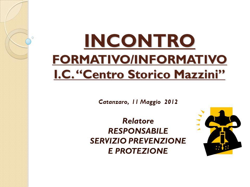 INCONTRO FORMATIVO/INFORMATIVO I.C.