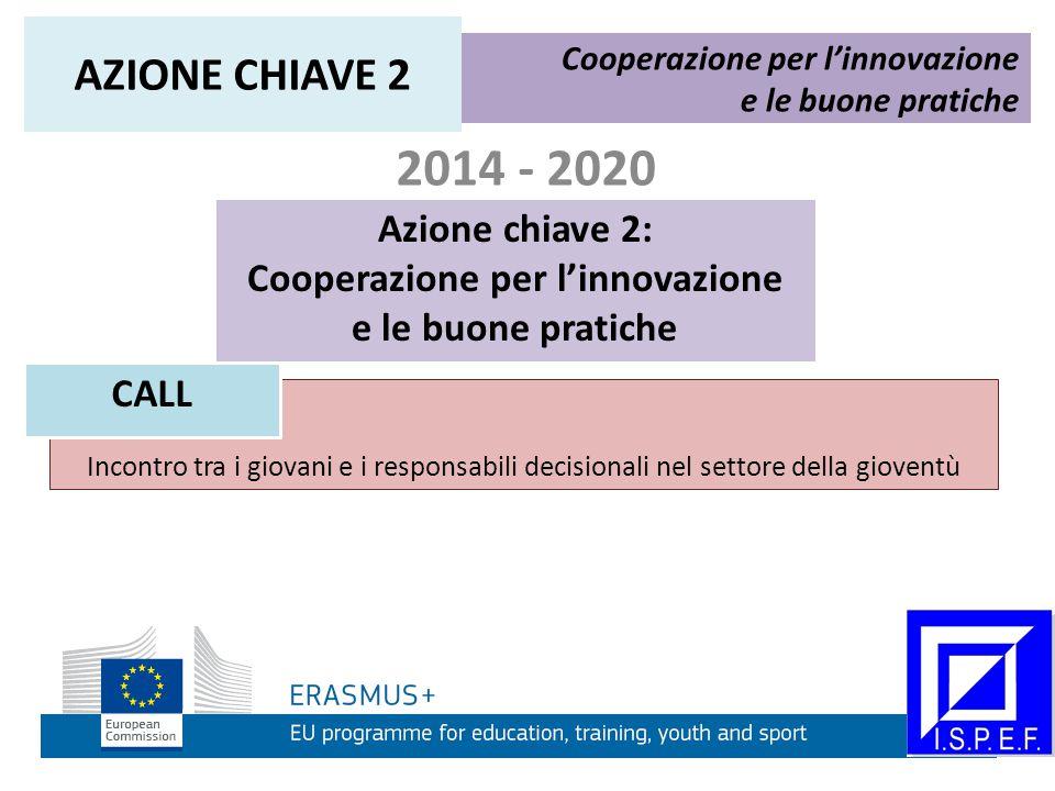 2014 - 2020 Azione chiave 2: Cooperazione per l'innovazione e le buone pratiche Cooperazione per l'innovazione e le buone pratiche AZIONE CHIAVE 2 CON