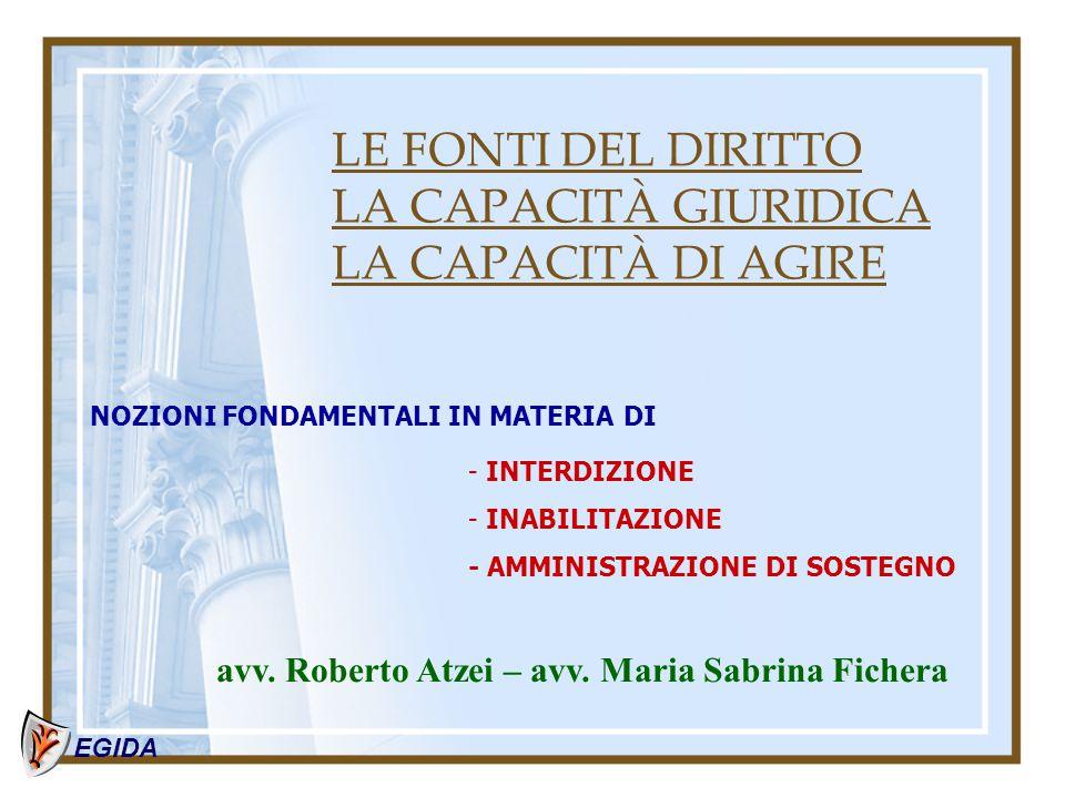 Tutela e Amministrazione di sostegno SCHEMI DI RIFERIMENTO  per il procedimento  per la gestione della misura di protezione EGIDA dott.