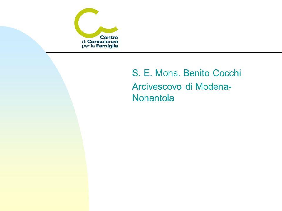 S. E. Mons. Benito Cocchi Arcivescovo di Modena- Nonantola