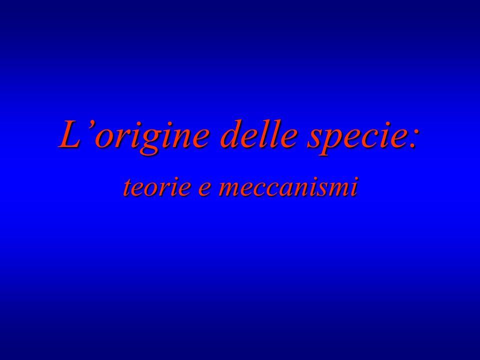 L'origine delle specie: teorie emeccanismi teorie e meccanismi