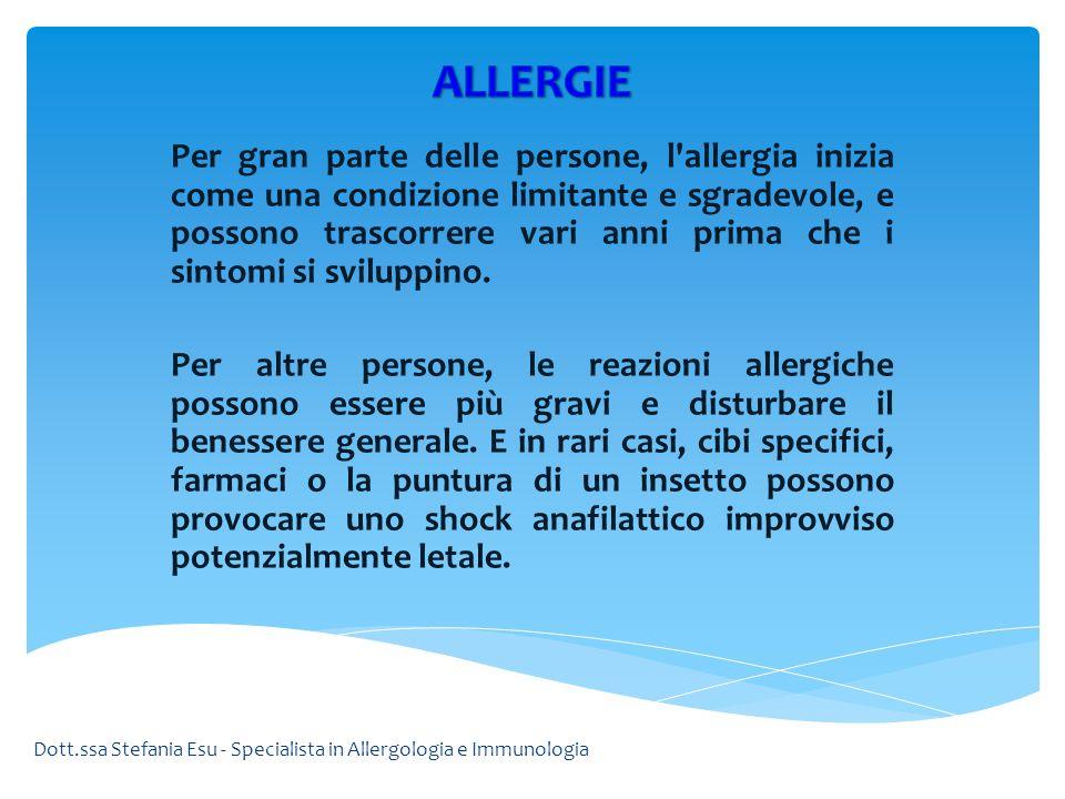 Per gran parte delle persone, l'allergia inizia come una condizione limitante e sgradevole, e possono trascorrere vari anni prima che i sintomi si svi