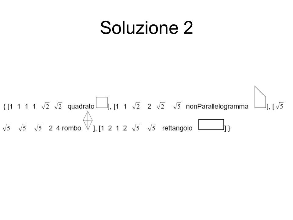 Soluzione 1 I dati,, e corrispondono alle quattro parti della clausola EFFECTS e per essi il metodo deve restituire, rispettivamente, i valori 1, 2, 3 e 0.