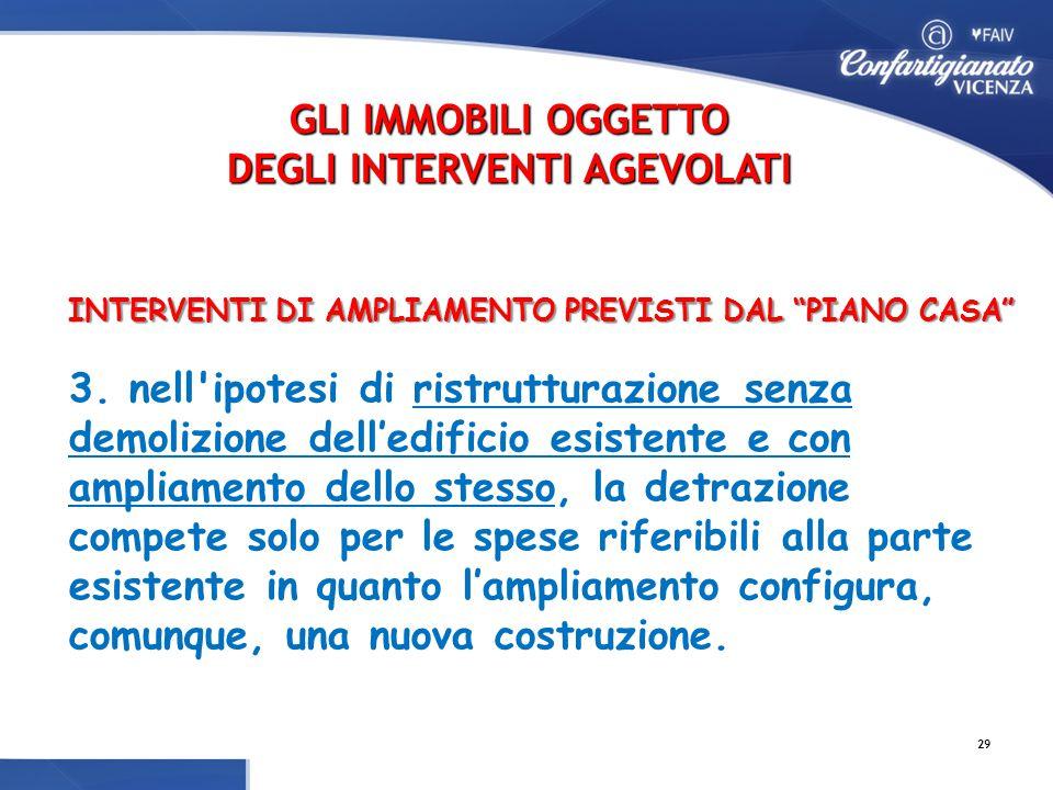 INTERVENTI DI AMPLIAMENTO PREVISTI DAL PIANO CASA INTERVENTI DI AMPLIAMENTO PREVISTI DAL PIANO CASA 3.