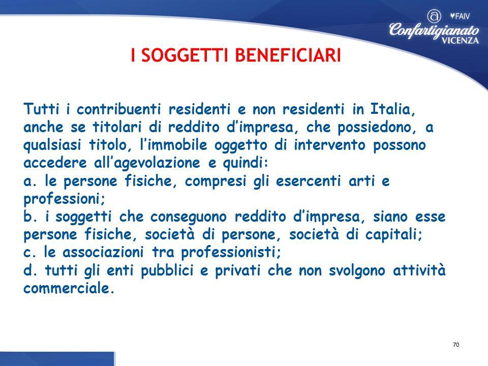 Tutti i contribuenti residenti e non residenti in Italia, anche se titolari di reddito d'impresa, che possiedono, a qualsiasi titolo, l'immobile oggetto di intervento possono accedere all'agevolazione e quindi: a.