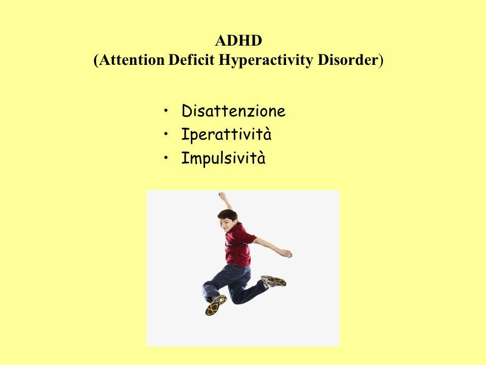 ADHD (Attention Deficit Hyperactivity Disorder) Disattenzione Iperattività Impulsività