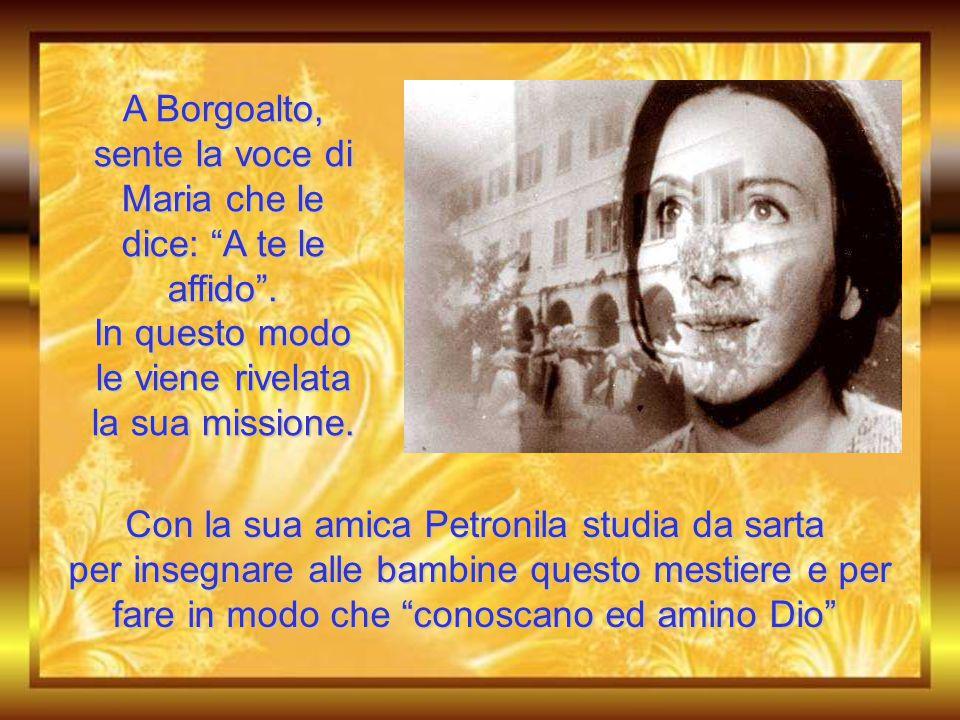 Durante la sua ricerca della volontà di Dio si verificano due fatti significativi: la visione di Borgoalto l'incontro con don Bosco
