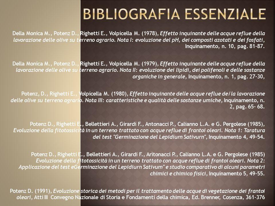 Della Monica M., Potenz D., Righetti E., Volpicella M.