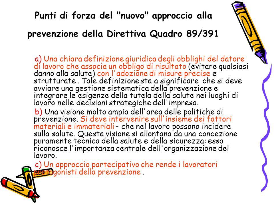 Recepimento della direttiva quadro.Attuazione nella P.A.