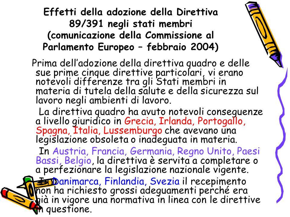Recepimento della direttiva quadro.