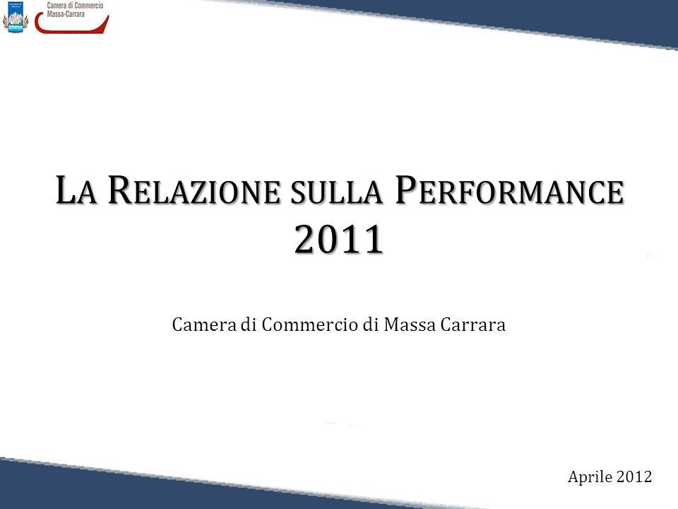L A R ELAZIONE SULLA P ERFORMANCE 2011 Camera di Commercio di Massa Carrara Aprile 2012
