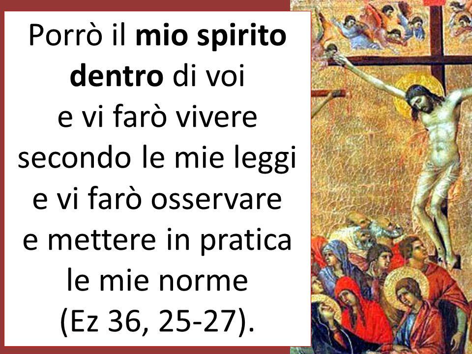 Vi aspergerò con acqua pura e sarete purificati; io vi purificherò da tutte le vostre impurità e da tutti i vostri idoli, vi darò un cuore nuovo, mett