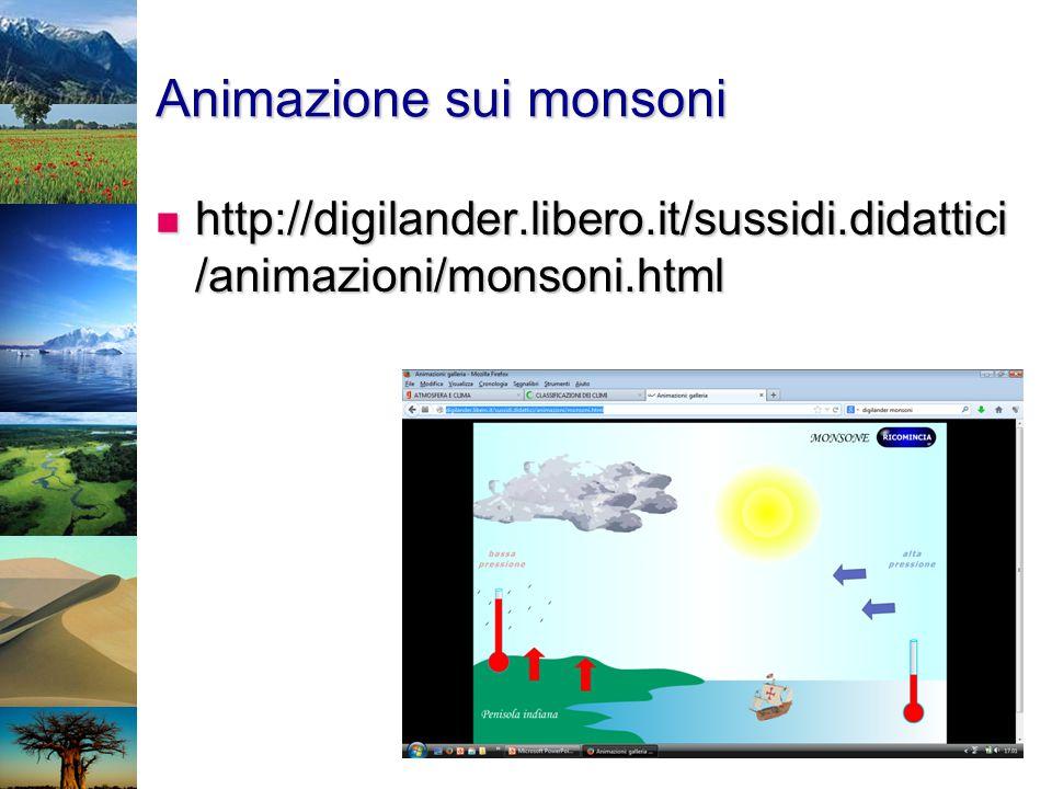 Animazione sui monsoni http://digilander.libero.it/sussidi.didattici /animazioni/monsoni.html http://digilander.libero.it/sussidi.didattici /animazion