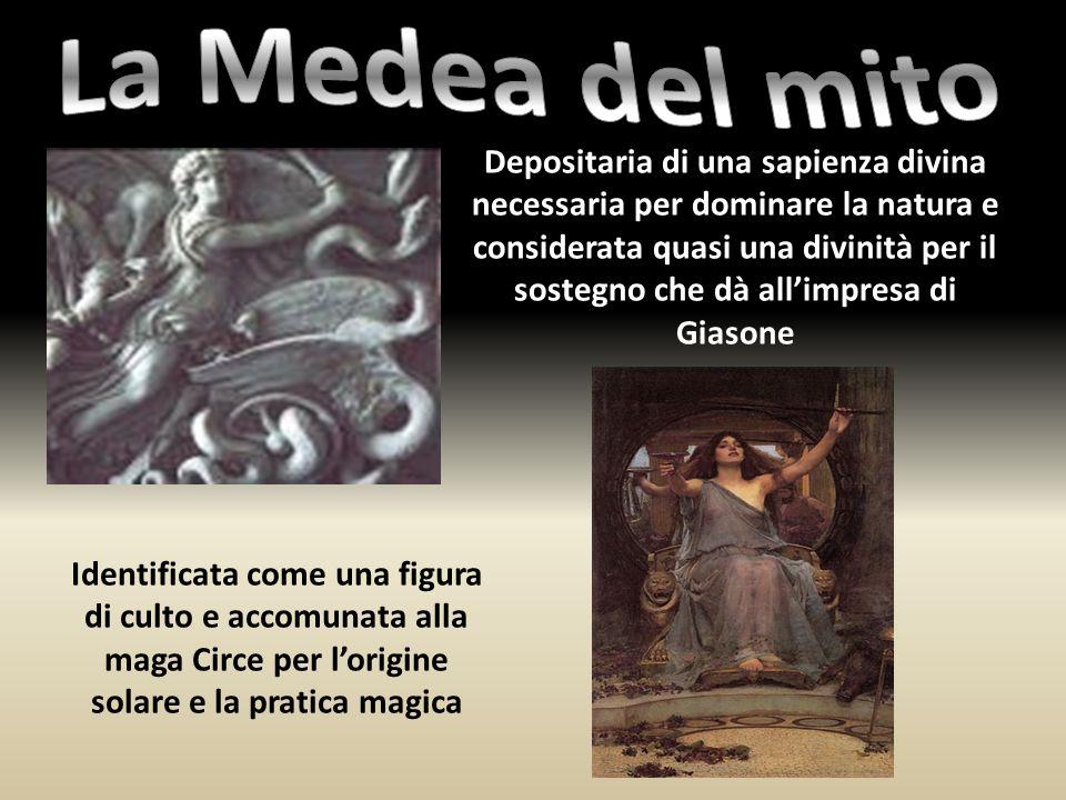 Depositaria di una sapienza divina necessaria per dominare la natura e considerata quasi una divinità per il sostegno che dà all'impresa di Giasone Id