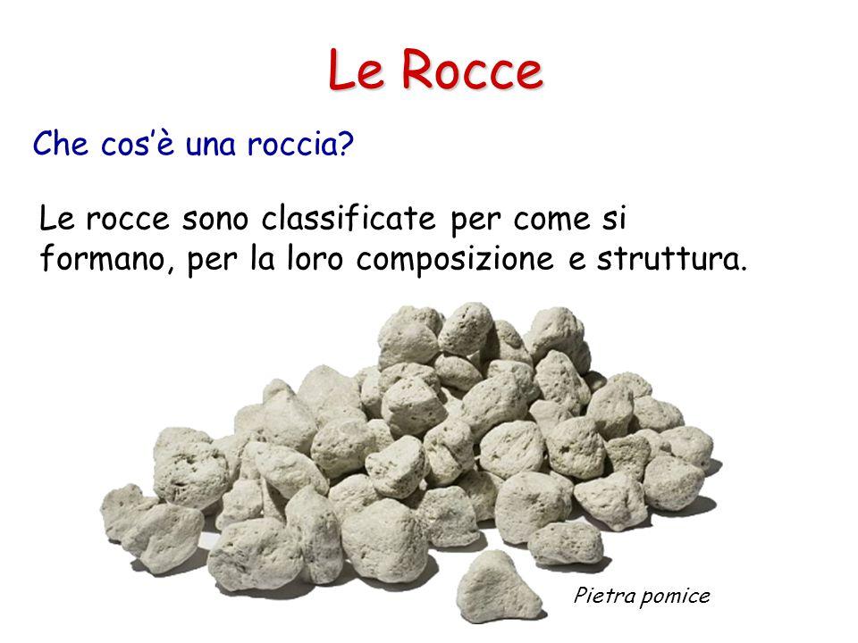 Che cos'è una roccia? Le Rocce Le rocce cambiano nel tempo (ciclo delle rocce). Lavagna in ardesia