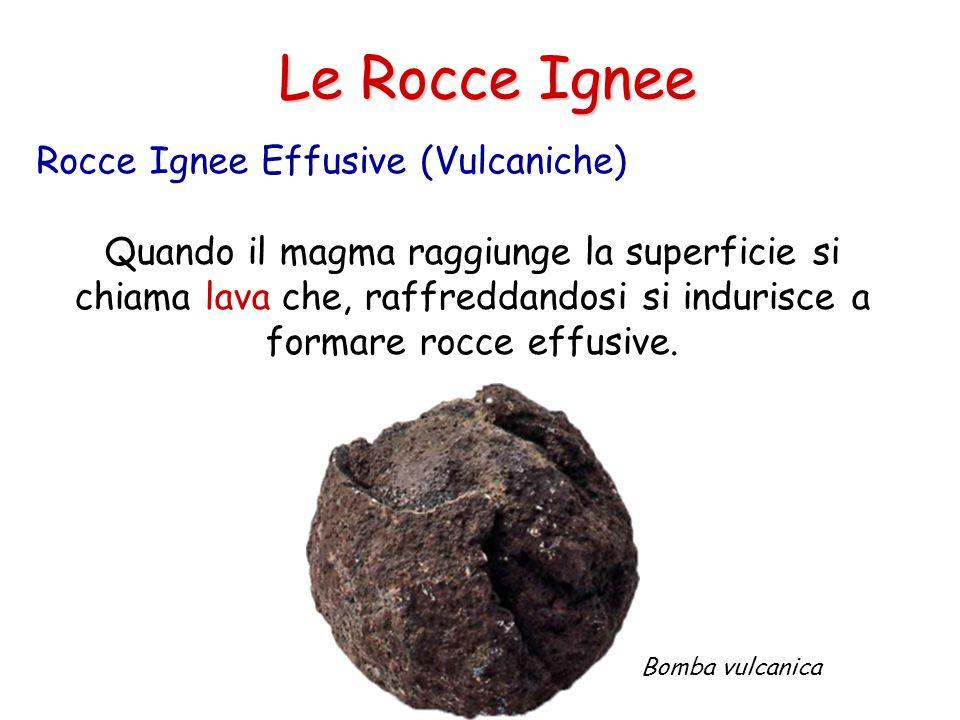 Le Rocce Ignee Quando il raffreddamento è molto veloce (quasi immediato) si formeranno rocce senza cristalli, un esempio è l'ossidiana.