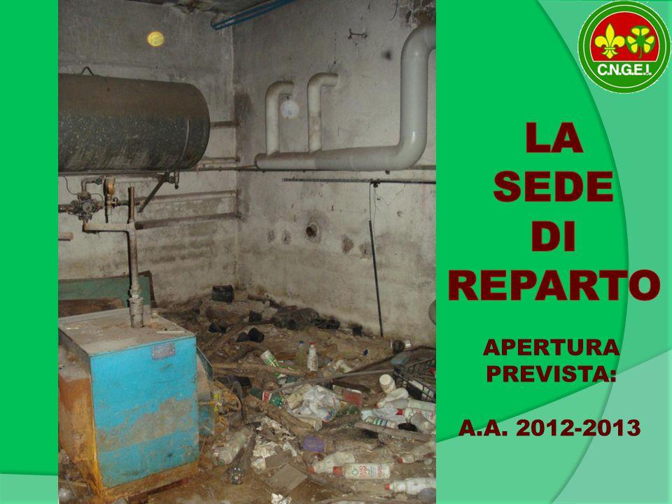 APERTURA PREVISTA: A.A. 2012-2013