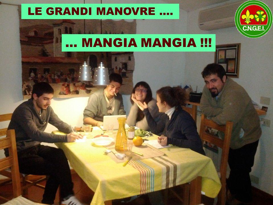 VERNICIA VERNICIA… STROFINA STROFINA … … MANGIA MANGIA !!! LE GRANDI MANOVRE ….