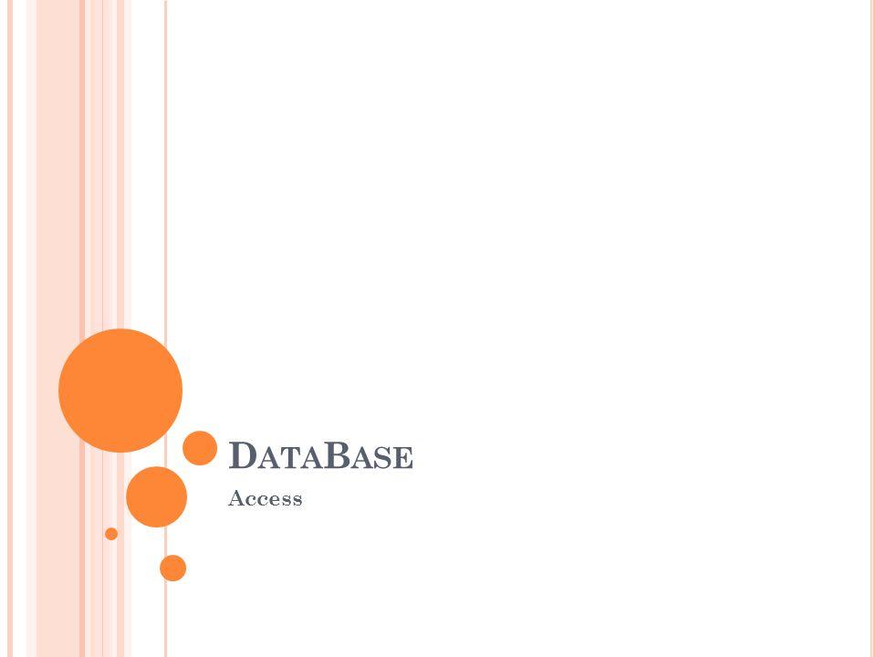 D ATA B ASE Access