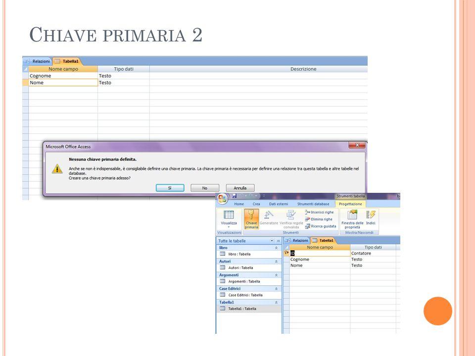 C HIAVE PRIMARIA 2