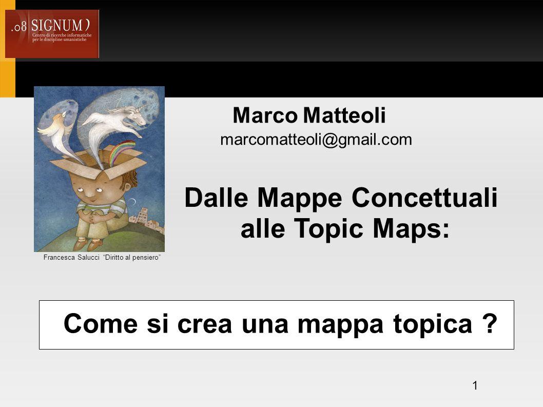 1 Dalle Mappe Concettuali alle Topic Maps: Come si crea una mappa topica .