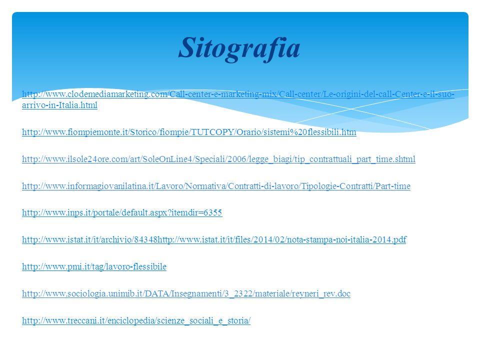 http://www.clodemediamarketing.com/Call-center-e-marketing-mix/Call-center/Le-origini-del-call-Center-e-il-suo- arrivo-in-Italia.html http://www.fiomp