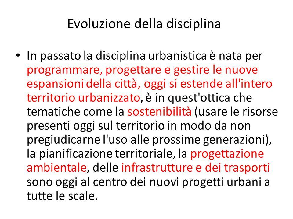 In passato la disciplina urbanistica è nata per programmare, progettare e gestire le nuove espansioni della città, oggi si estende all'intero territor