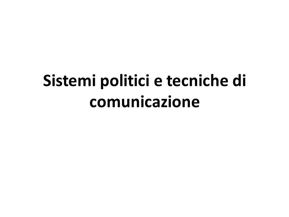 Sistemi politici e tecniche di comunicazione